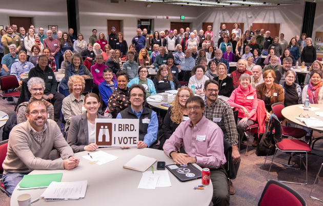 "Learn more about our 4th Annual ""I Bird, I Vote"" Bird Conservation Summit!"